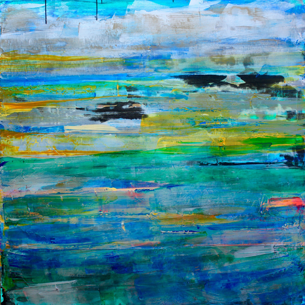 """Islands in the Sky,"" acrylic by Debra Van Tuinen"