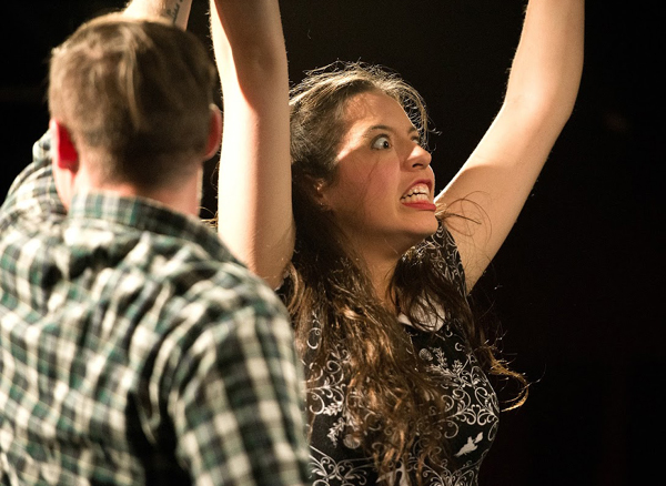 "Dan Pickens and Hope Chamberlain in ""Lip Readers,"" photo by Joe Saladino"