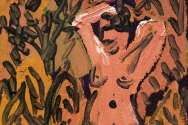 """""""Phoebe 1,"""" oil on wood panel by Peter Scherrer"""